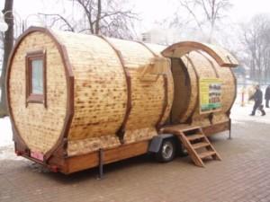 Идея бизнеса: баня на колёсах